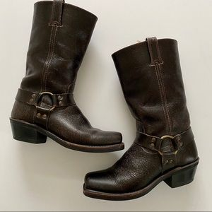 Frye Distressed Harness Motorcycle Boot